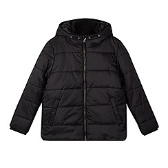 Debenhams - Boy's black padded school coat