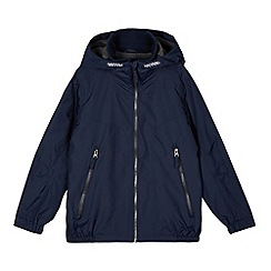Debenhams - Boy's navy fleece lined school coat