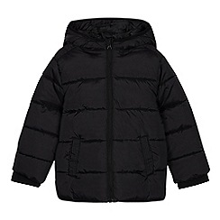 Debenhams - Boy's black hooded school mac