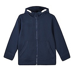 Debenhams - Boy's navy zip through sweat hoodie