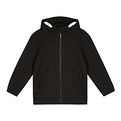 Debenhams - Boy's black zip through sweat hoodie