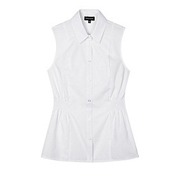 Debenhams - Girls' white fitted school blouse