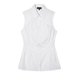 Debenhams - Girls' white fitted school blouse