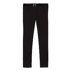 Debenhams - Girl's black belted school trousers
