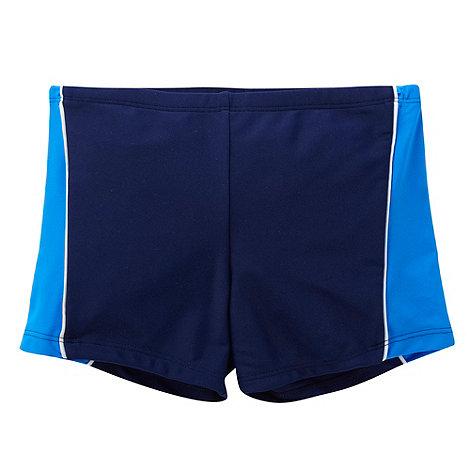 Debenhams - Boy+s navy panel swim shorts