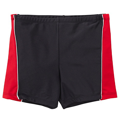 Debenhams - Boy+s black panel swim shorts