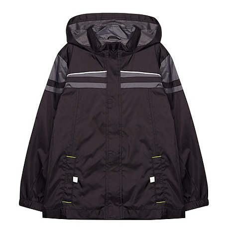 Debenhams - Boy+s black Pac-a-Mac school uniform jacket