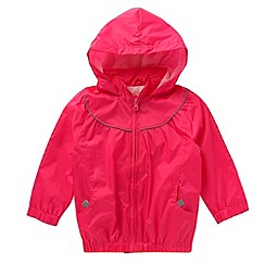 Debenhams - Girl's pink pack-away school uniform mac