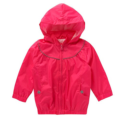 Debenhams - Girl's pink pack-away school uniform mac