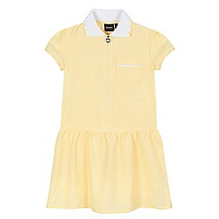 Debenhams - Girls' yellow gingham checked school dress