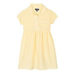 Debenhams - Yellow gingham print dress