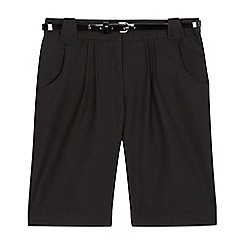 Debenhams - Girls' black school shorts