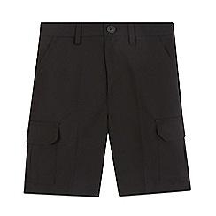 Debenhams - Boys' black school cargo shorts