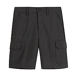 Debenhams - Boys' grey cargo school shorts