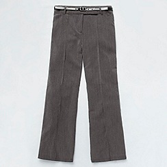 Debenhams - Girl's grey belted bootleg school uniform trousers
