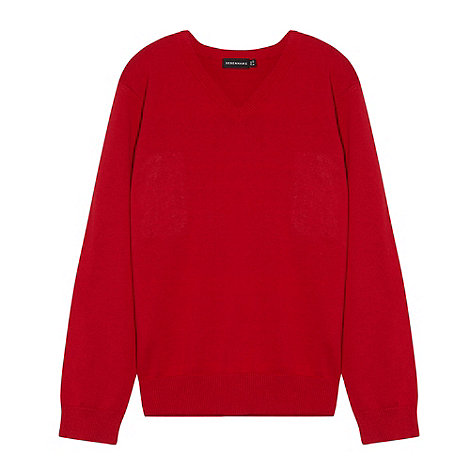 Debenhams - Red unisex vneck school uniform jumper
