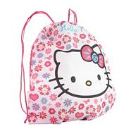 Girl's pink spotted 'Hello Kitty' drawstring bag