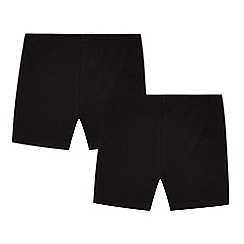 Debenhams - Pack of two girls' black school cycling shorts