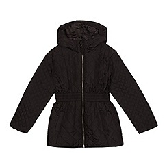 Debenhams - Girls' black quilted coat