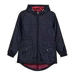 Debenhams - Girls' navy packaway shower resistant mac jacket