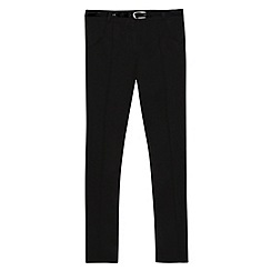 Debenhams - Girls' black textured belted school trousers
