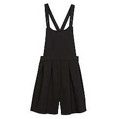 Debenhams - Senior girls'  black school playsuit