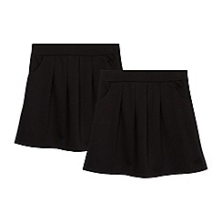 Debenhams - Girls' black school skater skirt