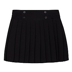 Debenhams - Girls' black pleated school skirt