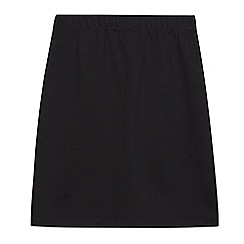 Debenhams - Girls' black stretchy school skirt