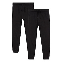 Debenhams - Pack of two children's black jogging bottoms