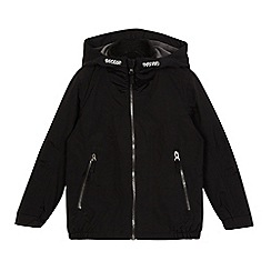 Debenhams - Boys' black fleece lined windproof jacket