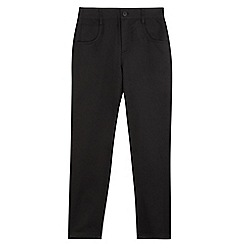 Debenhams - Boys' black slim fit school trousers
