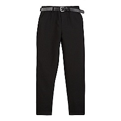 Debenhams - Boys' black belted skinny school trousers