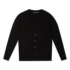 Debenhams - Boys' black V neck slim fit school cardigan
