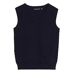 Debenhams - Children's navy school tank top