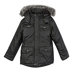 Debenhams - Boys' black parka coat