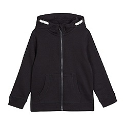 Debenhams - Children's black zip through hoodie