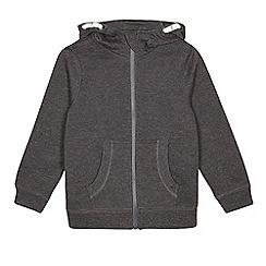 Debenhams - Children's grey zip through hoodie