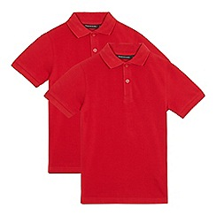 Debenhams - Children's pack of two red school polo shirts
