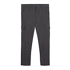 Debenhams - Boys' grey slim cargo school trousers