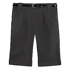 Debenhams - Girls' grey city shorts with belt