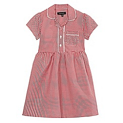 Debenhams - Girls' red gingham print dress