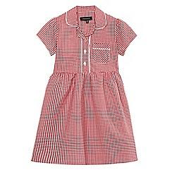 Debenhams - Girls' red gingham print dress