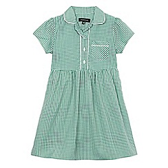 Debenhams - Girls' green gingham print dress