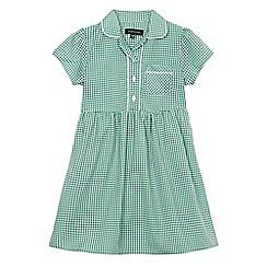 Debenhams - Girls' green gingham print dress