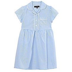 Debenhams - Girls' blue gingham print dress