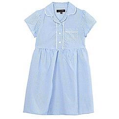 Debenhams - Girls' blue gingham print dress