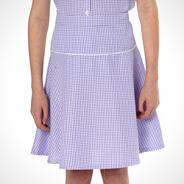Online Exclusive - Girl's pack of two lilac gingham school uniform skirts