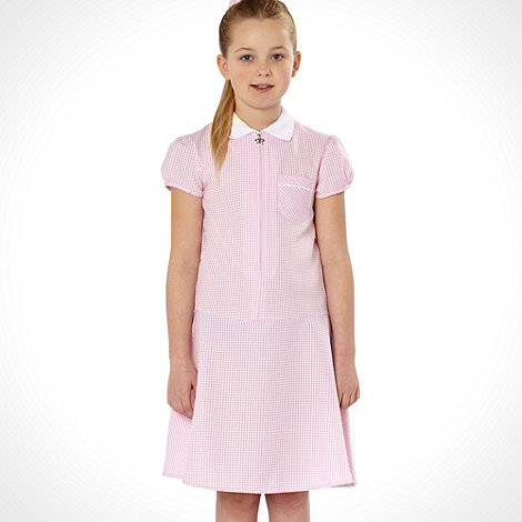 Debenhams - Online Exclusive - Girl+s pink summer school uniform dress