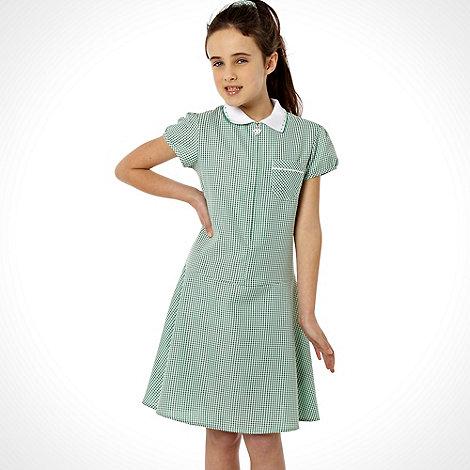 Debenhams - Girl+s green summer school uniform dress